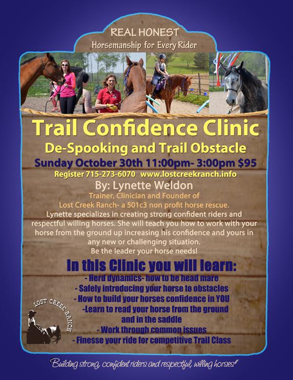 de-spooking clinic lynette weldon lost creek ranch wi