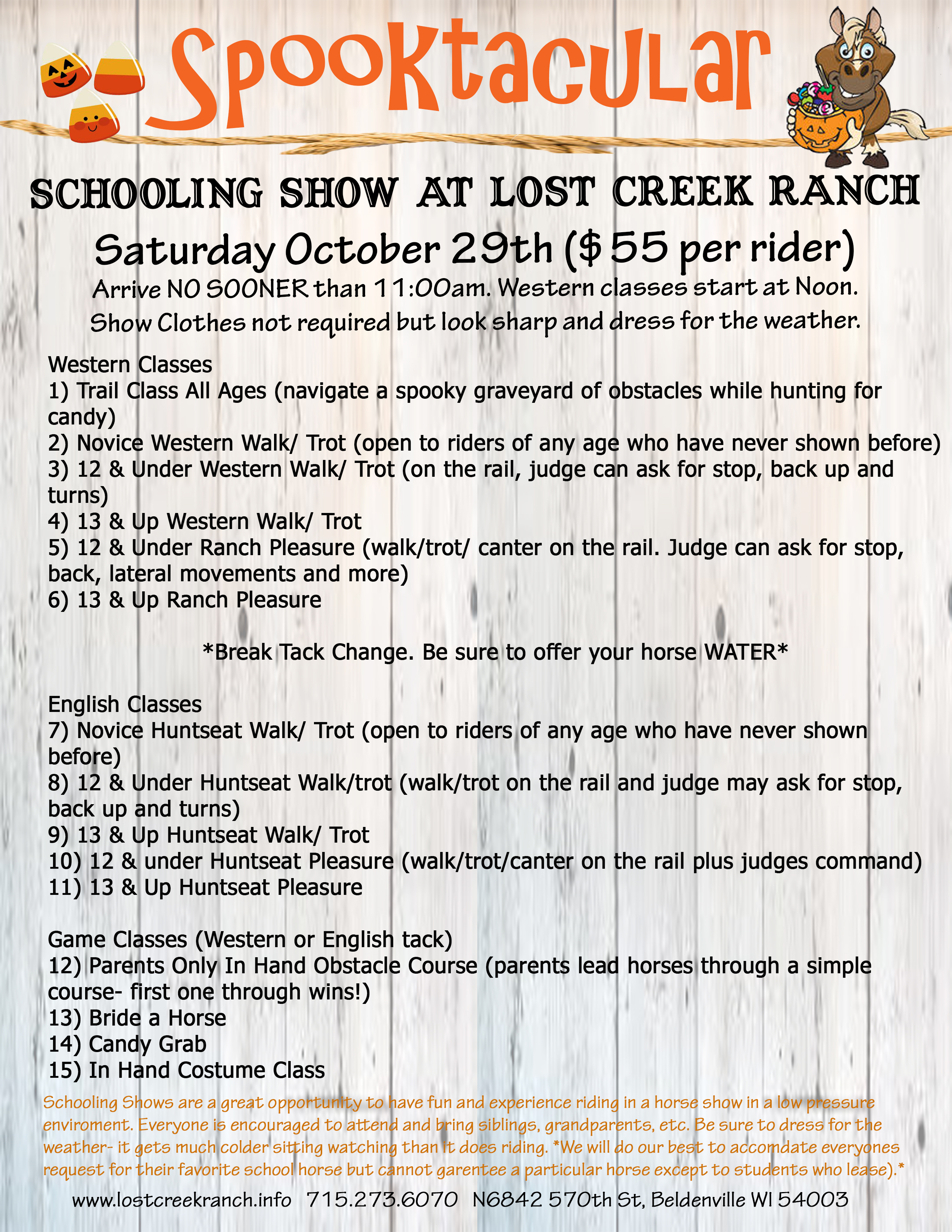 lost creek ranch wi youth horse schooling show