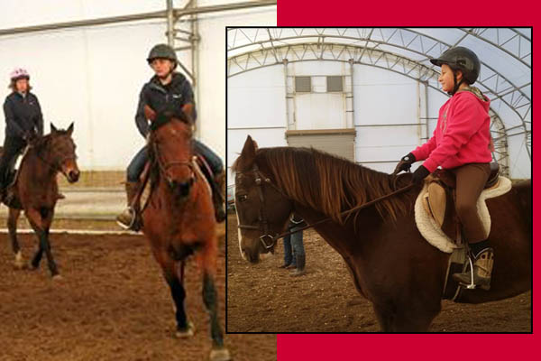 lost creek ranch wi winter riding indoor arena