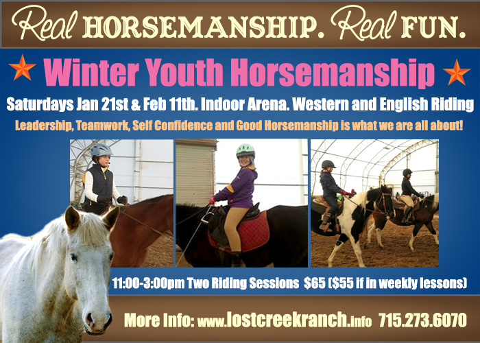 lost creek ranch wi youth horseback riding