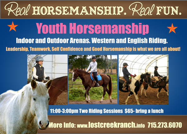 lost creek ranch wi youth horse riding lessons