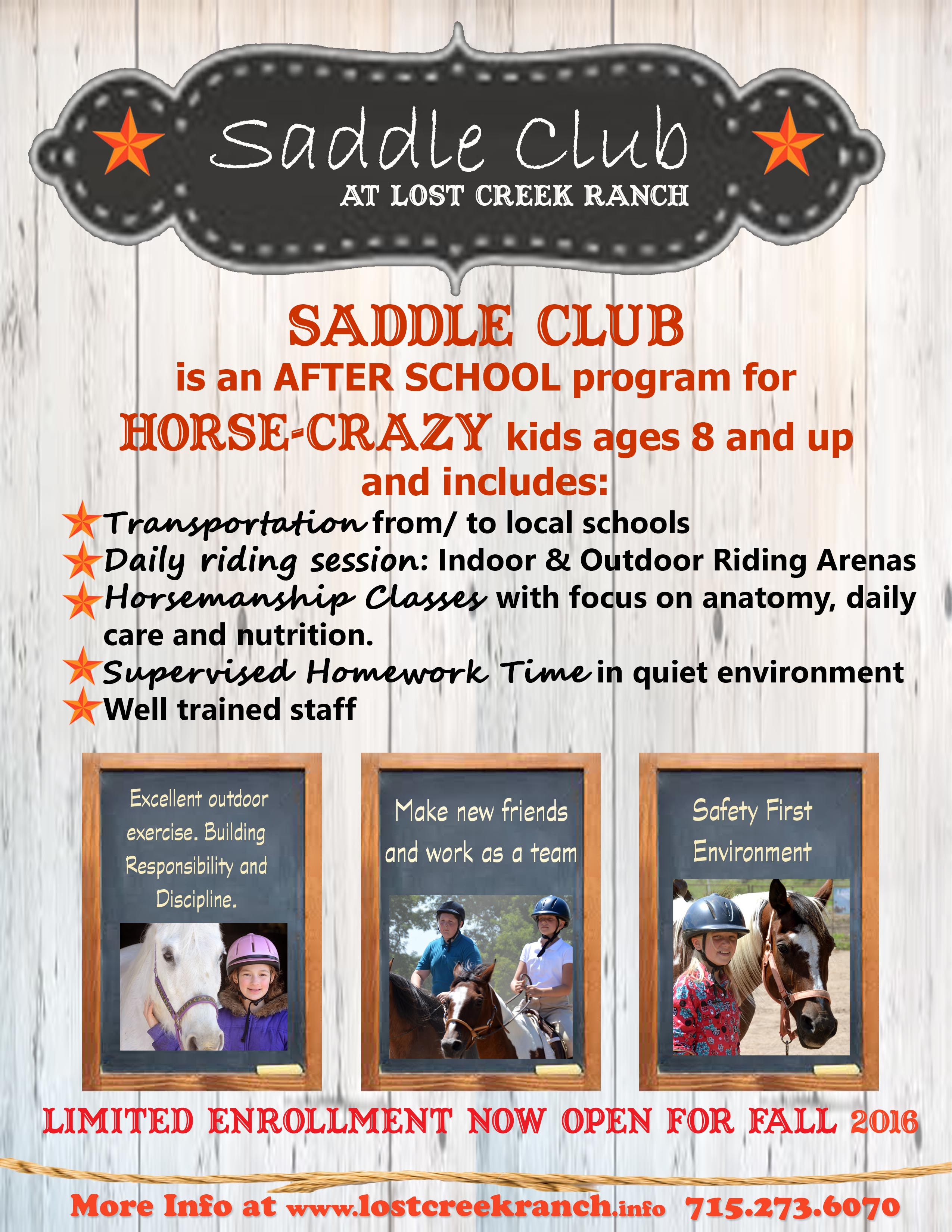 after school saddle club lost creek ranch wi riding lessons