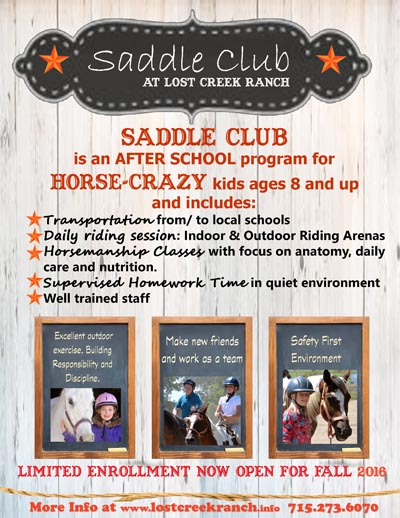 after school saddle club lost creek ranch beldenville wi