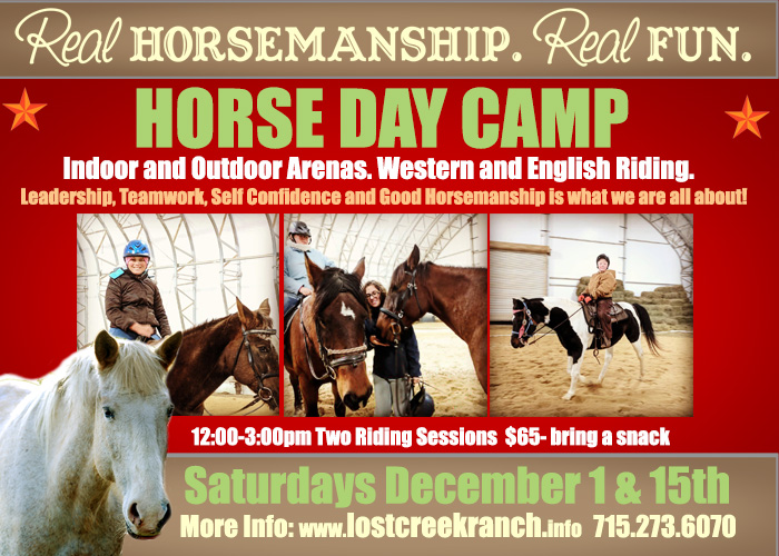 horse day camp lost creek ranch wi kids horseback riding camp lessons
