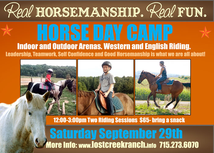 lost creek ranch wi horse day camp kids horse day camp kids horse camp wi