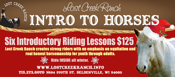 lost creek ranch wi horse riding lesson gift certificates