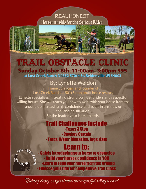 trail obstacle clinic lynette weldon lost creek ranch beldenville wi