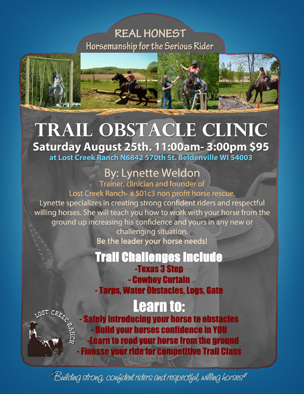 horse riding clinic lost creek ranch wi