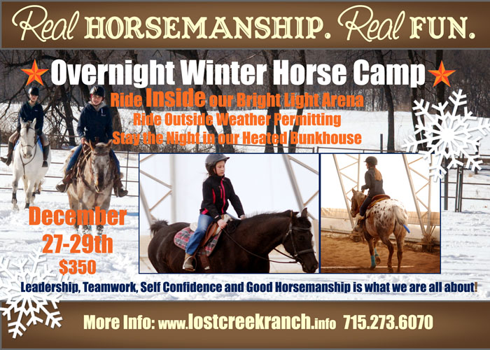 lost creek ranch overnight winter horse camp