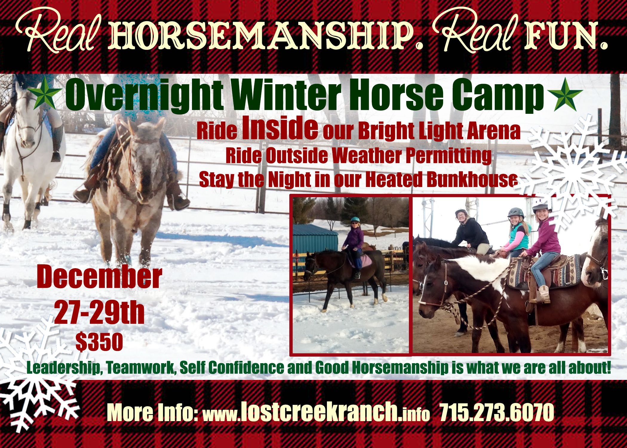 lost creek ranch wi youth overnight horse camp winter horse camp
