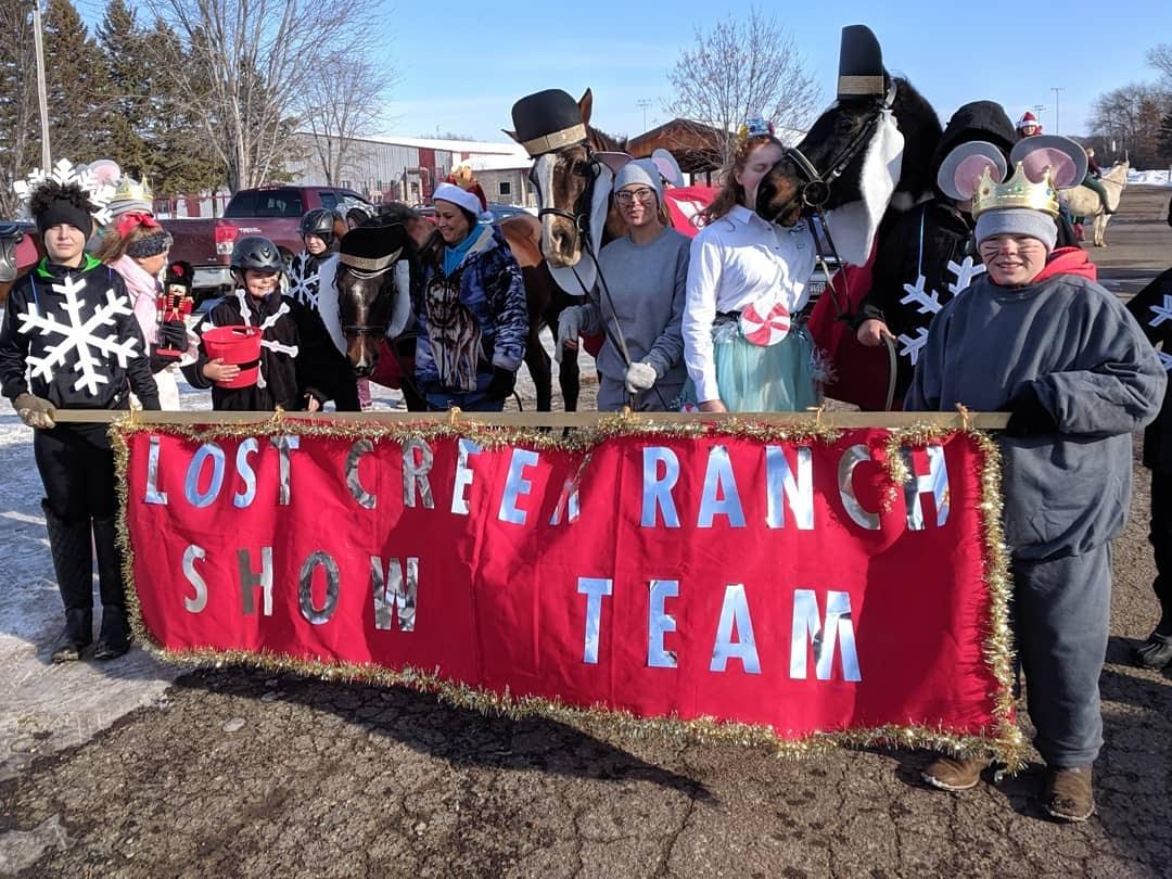 lost creek ranch wi christmas horse parade