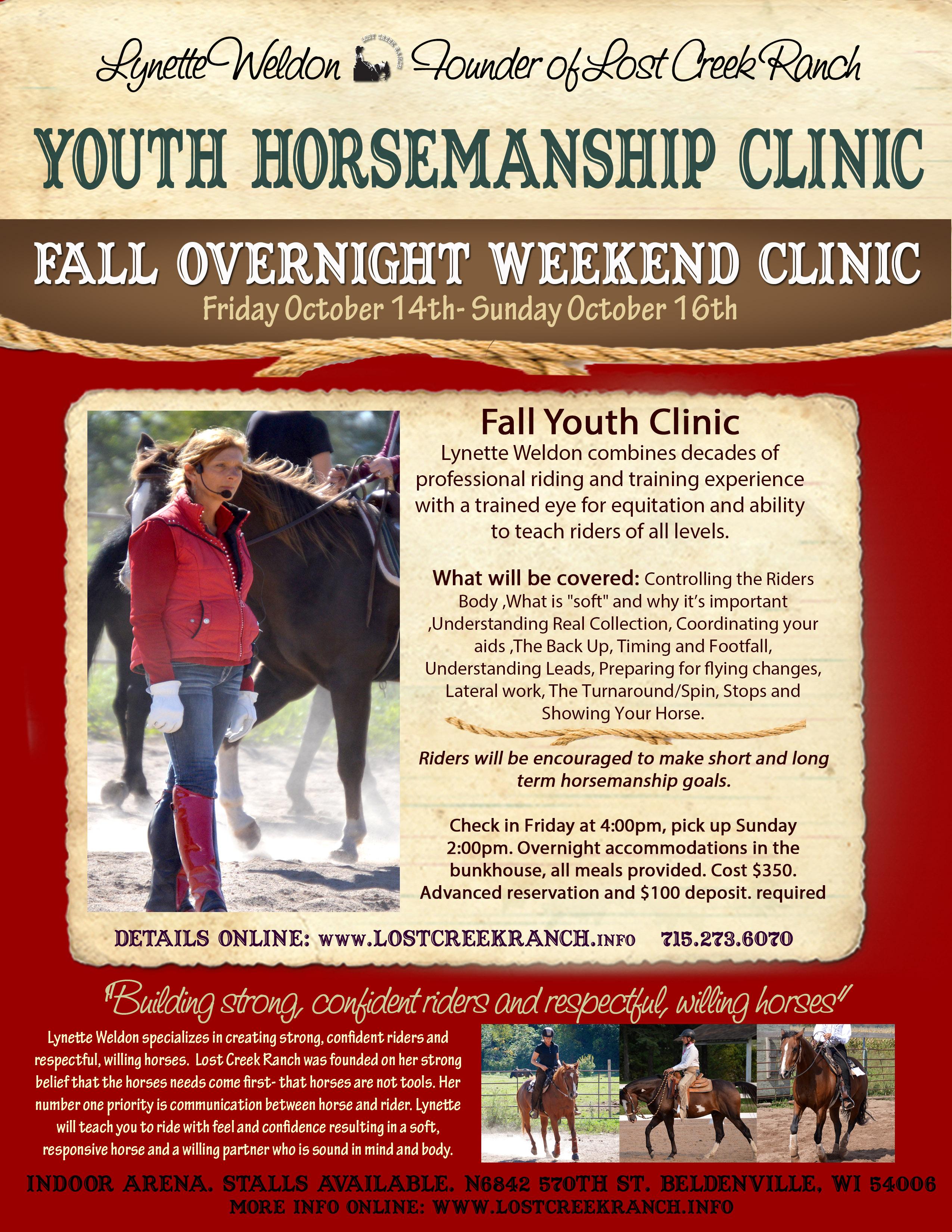 youth horsemanship clinic lost creek ranch wi lynette weldon