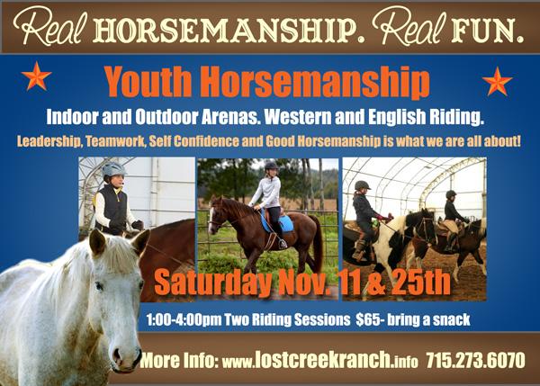 youth horsemanship lost creek ranch wi